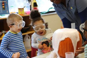 preschool science experiment day early learning, pre-k, project lead the way